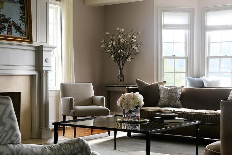gray and brown living