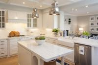 Kitchen Peninsula Opens to Family Room - Transitional ...