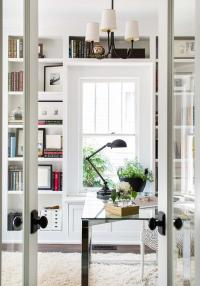 French Doors to Home Office with Window Seat ...