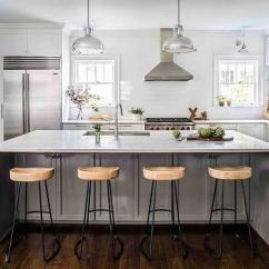 Pull Knobs For Kitchen Cabinets Supplies Stores With Full Height Subway Tiled Backsplash ...