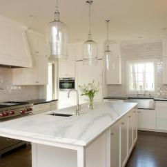 Long Kitchen Islands Quartz Countertops And Narrow Island Design Ideas With Corsica 1 Light Pendants View Full Size