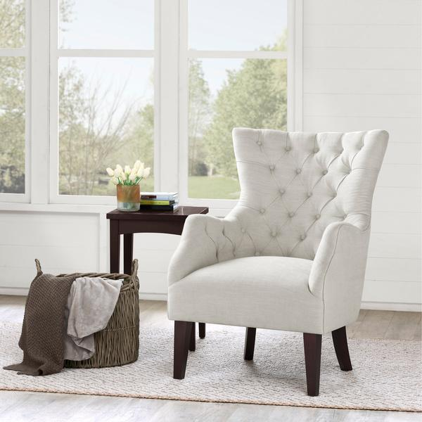 white tufted chair office reupholstery hannah off wing