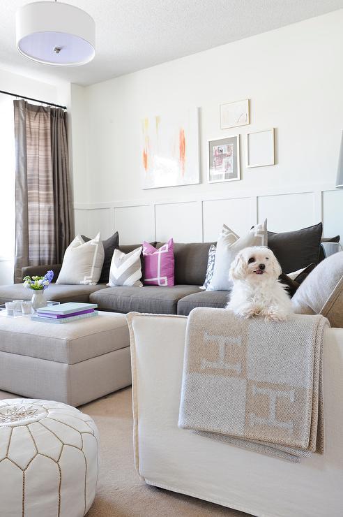 chaise sofa with ottoman costco sleek set designs gray walls - transitional living room pratt and ...