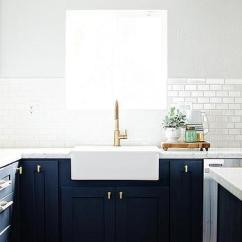Blue Kitchen Cabinet Knobs Non Slip Shoes Threshold White Windsor Counter Stools - Transitional ...