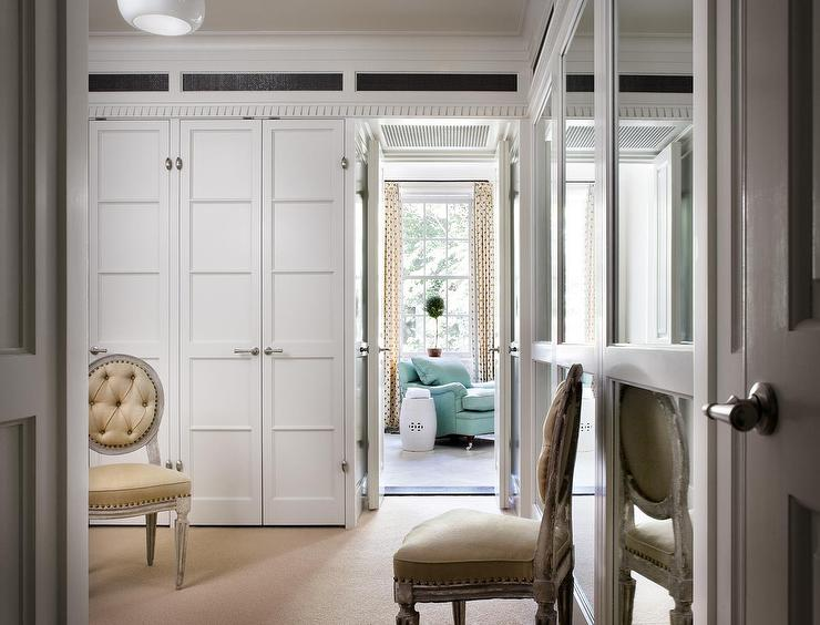Walk In Closet with Paneled Bi Fold Wardrobe Closet Doors