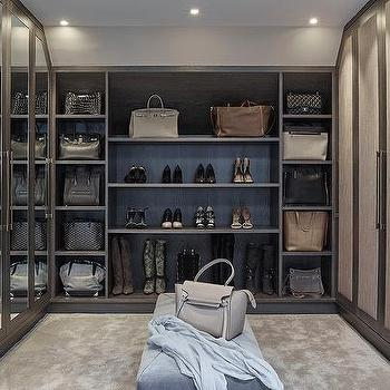 2 Story Closet With Oval Mirror Top Island Contemporary