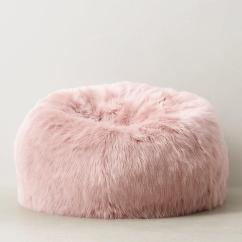 Bean Bag Chairs For Teens High Beach Chair Kashmir Dusty Rose Faux Fur