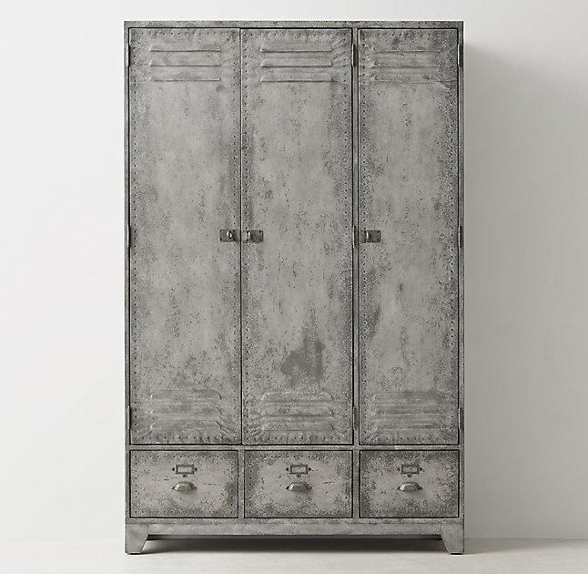 Old School Gray Locker Cabinet