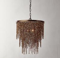 Athena Copper Crystal Chandelier