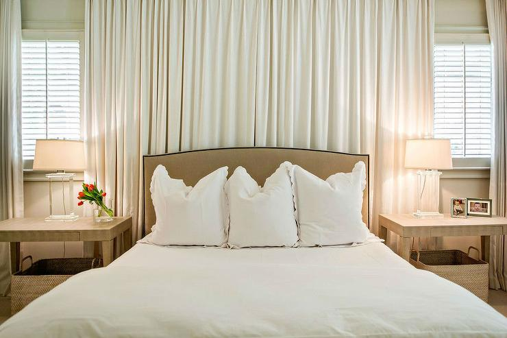drapes behind bed design ideas