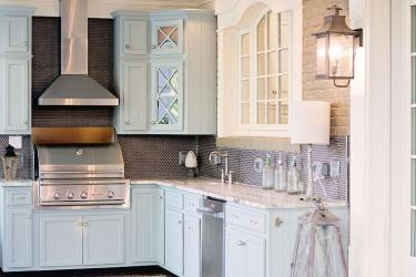 granite fantasy brown cabinets countertops kitchen gray kitchens shaker round backsplash tile leathered covered porch cabinet counter outdoor benjamin moore