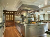 Oversized Stainless Steel Center Island with Stacked ...