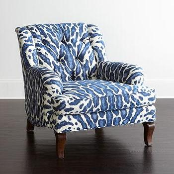 Navy Tufted Chair