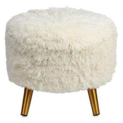 Ashley Chair And Ottoman Amazon Beach Chairs Tavi Ivory Faux Mongolian Fur Stool
