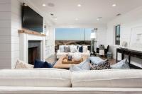 Oceanfront Living Room with Folding Glass Patio Doors ...