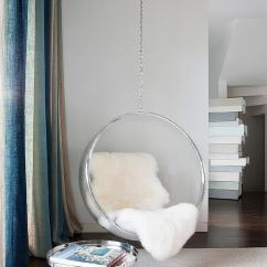 Egg Swing Chair Wooden Garden Chairs Uk Reading Corner With Acrylic Hanging Bubble - Contemporary Bedroom