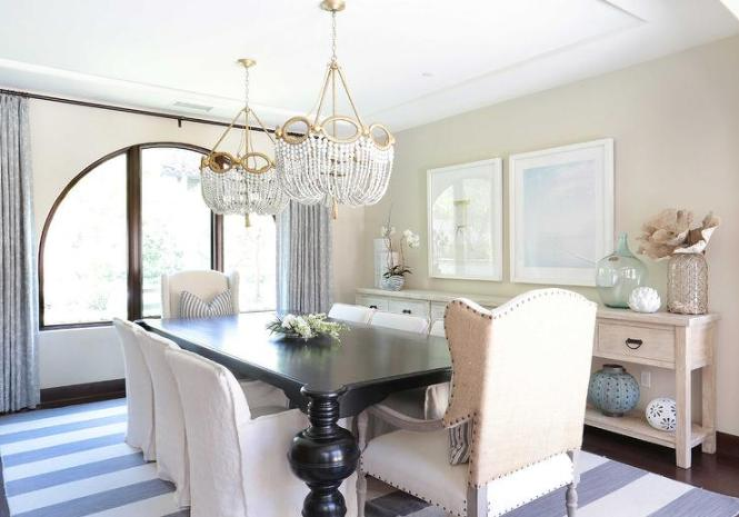 Long Dining Room Sideboard With Art