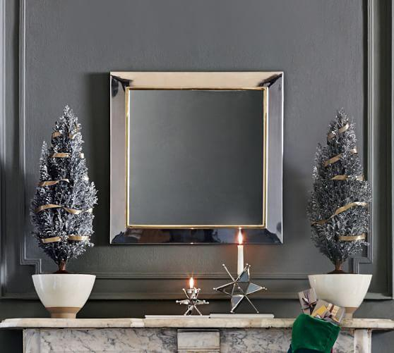 Evelyn Mirrored Frame Silver Square Wall Mirror