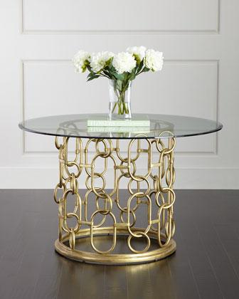 glass top kitchen table cupboards for gold bernhardt selinda dining