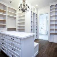 Glass Top Closet Island with 12 Drawers - Transitional ...