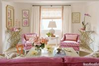 Gold and Pink Living Room Design - Contemporary - Living ...