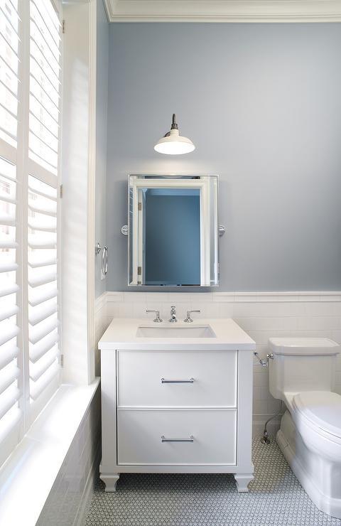 Slate Blue Bathroom Paint Design Ideas