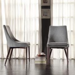 Modern Grey Dining Chairs Uk White Wood Chair Inspire Q Sasha Mid Century Fabric Upholstered Slope Leg