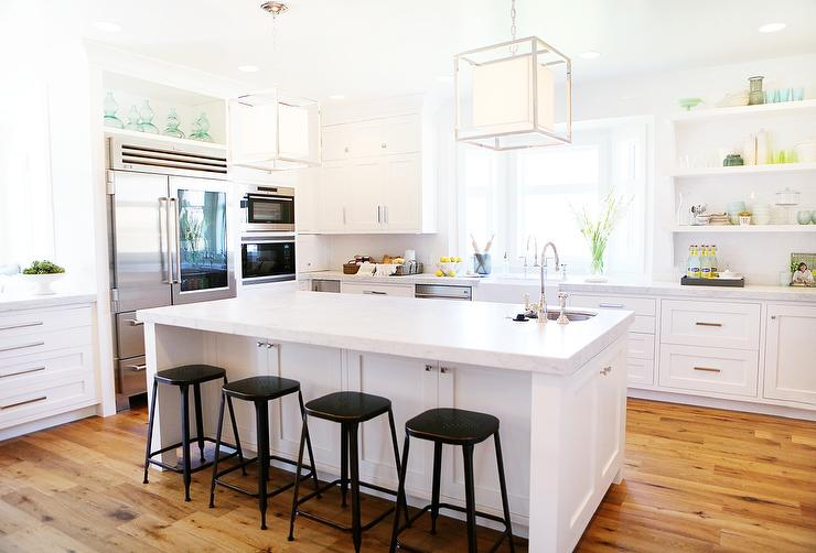 island stools for kitchen dining room sets white with backless black metal counter