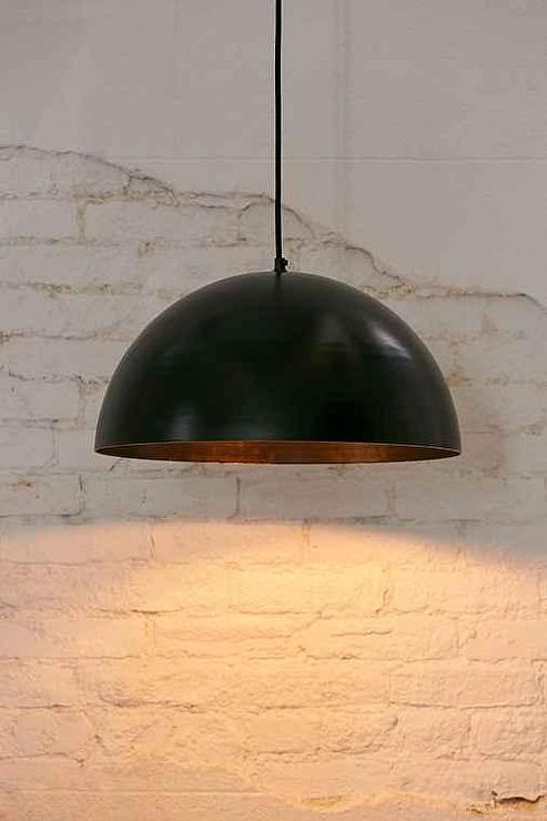 Hanging Girl Wallpaper Black Iris Dome Large Pendant Light
