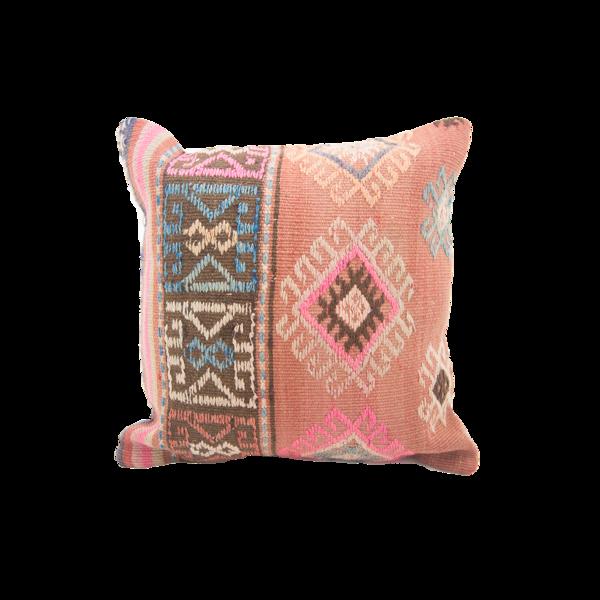 orange turkish kilim pillow