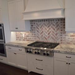 Brick Kitchen Backsplash Remodelled Kitchens Before And After Gray Design Ideas Red View Full Size