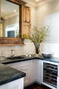 Reclaimed Wood Kitchen Pass Through with Doors - Eclectic ...