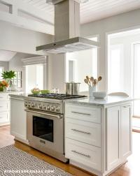 Kitchen Island with Freestanding Stove - Transitional ...