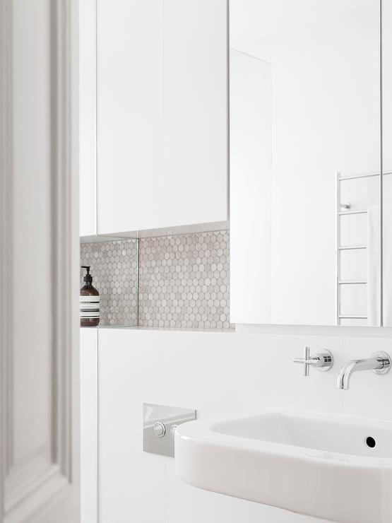 Gray Modern Bathroom Vanity with White Quartz Countertop