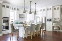 white kitchen islands with stools | Roselawnlutheran