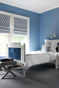 Blue Boy Bedroom with Gray Accents - Contemporary - Boy's Room