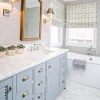 Gray And Blue Bathroom Accessories