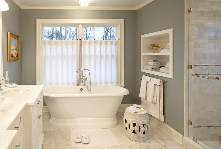 Bathroom Cafe Curtains Design Ideas