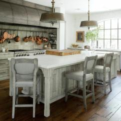 Lighting Over Kitchen Island Pantries For Sale Gray French With Steel Barrel Hood - Transitional ...