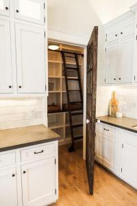 Reclaimed Barn Wood Pantry Door with Ladder - Cottage ...
