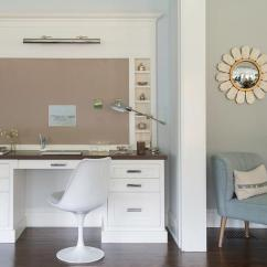 Wooden White Desk Chair Impact X Rocker With Wood Top Under Bulletin Board And Picture Light