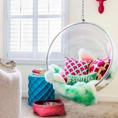 Hanging Chair In Room Canoe Iii Chic Teen Girl With Bubble Contemporary