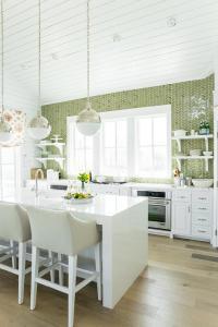 Green Herringbone Tiles Backsplash By Ann Sacks ...