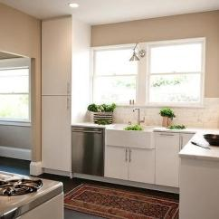 Kitchen Walls Rectangular Table Half Tiled Design Ideas White And Beige With Copper Accents