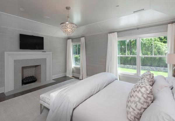 white walls grey ceiling bedroom Interior design inspiration photos by Blue Water Home