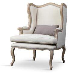 Wood Frame Accent Chairs Bayside Office Chair Auvergne Beige Traditional French