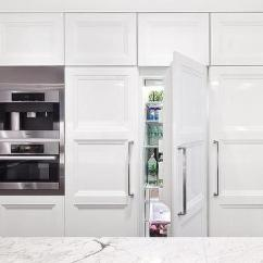 Shaker Style Kitchen Cabinet Hardware Remodels With White Cabinets Coffee Maker And Microwave Hidden Behind ...