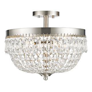 Z Lite Danza 4 Lights Brushed Nickel Silver Semi Flush Mount