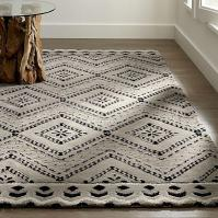 Blue and White Geometric Shelby Rug