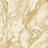 Cream and Gold Smoky Marble Wallpaper